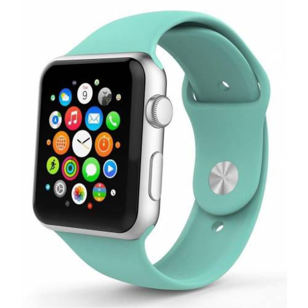 Pulseira Emborrachada Apple Watch Verde Tiffany