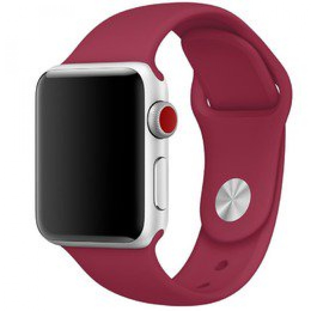 Pulseira Emborrachada Apple Watch Marsala