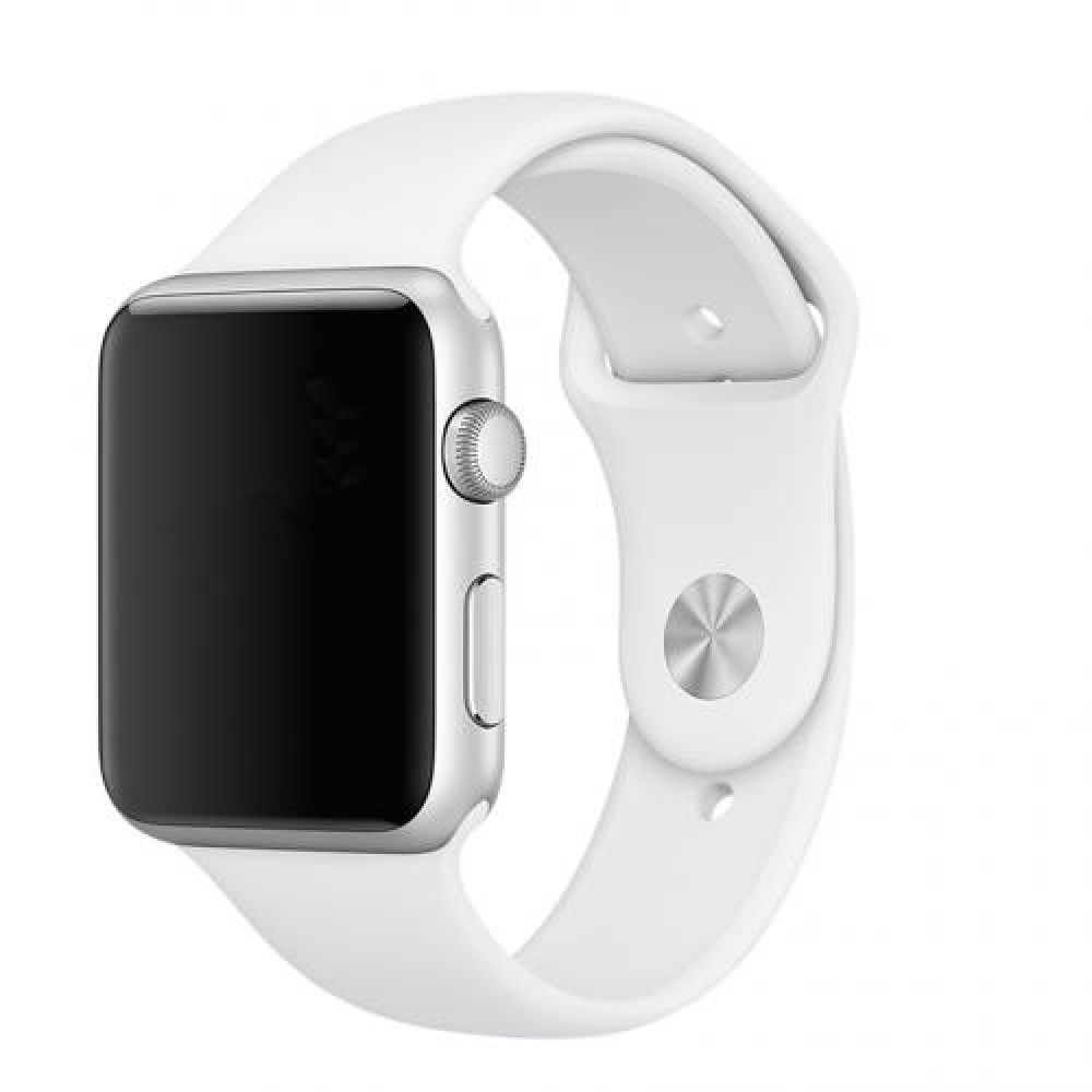 Pulseira Emborrachada Apple Watch Branca