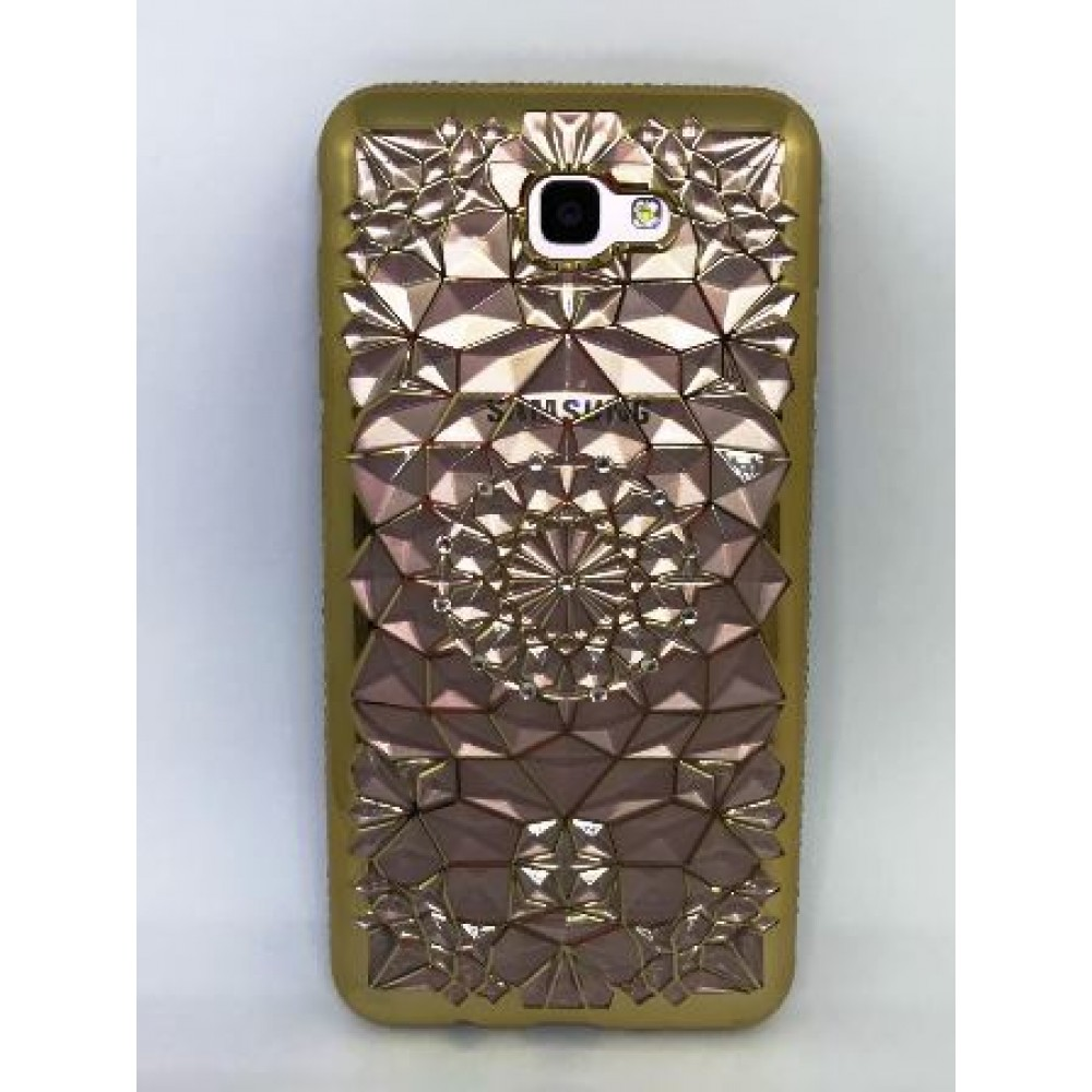 Case metalizada strass  J7 Prime