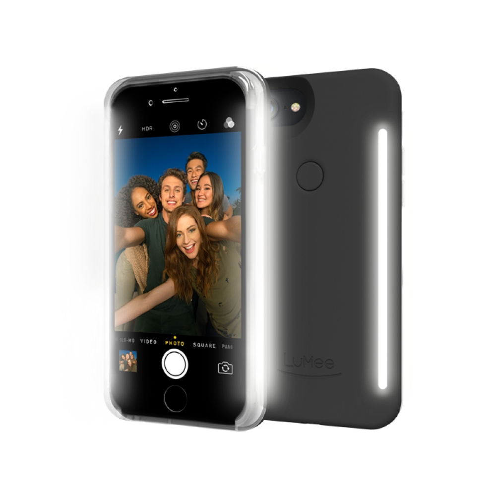 CASE ILUMINADORA COM LED DUO DA LuMee PARA IPHONE 6,6S/7/8