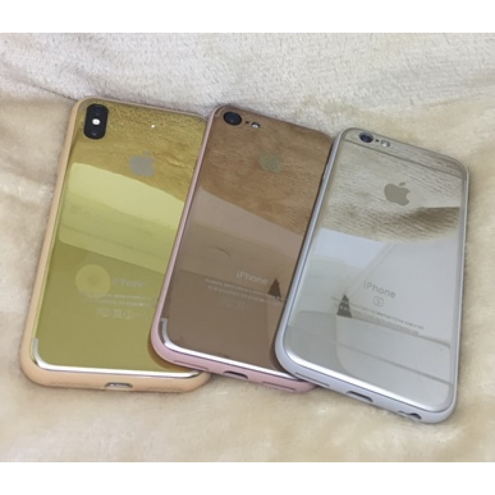 Case Espelhada Prata Iphone 6,6S/7,7Plus/8,8Plus/X