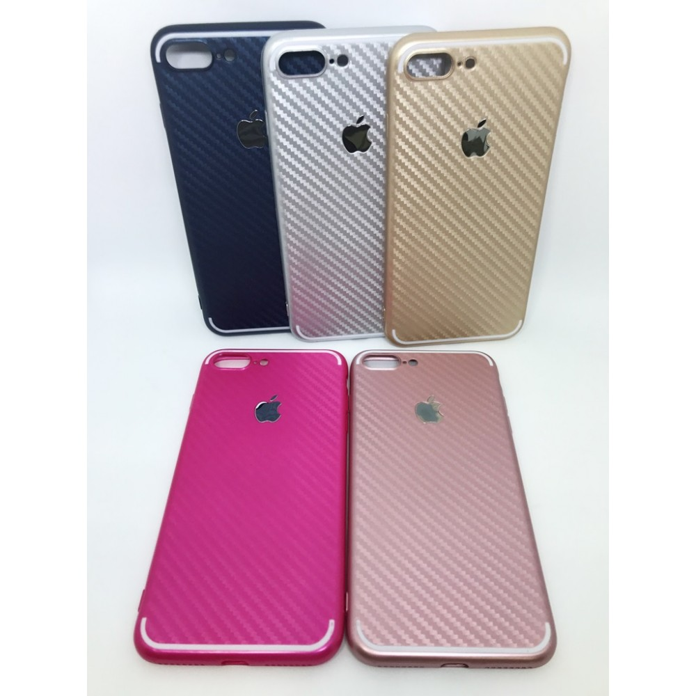 Case color estilo fibra de carbono Iphone 7 PLUS
